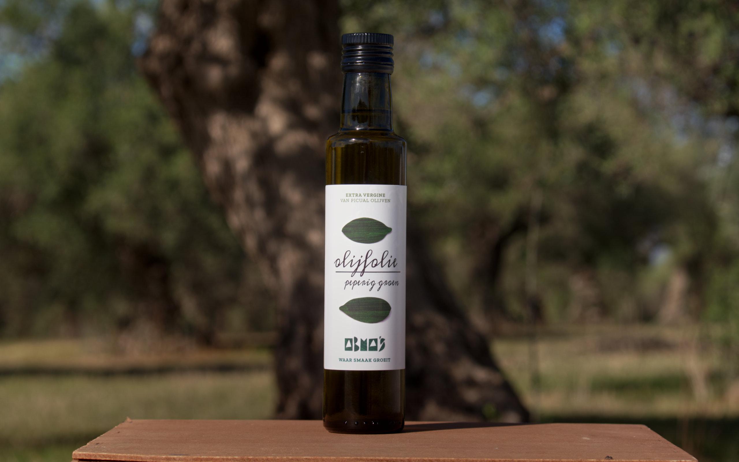 Abma's olijfolie peperig groen