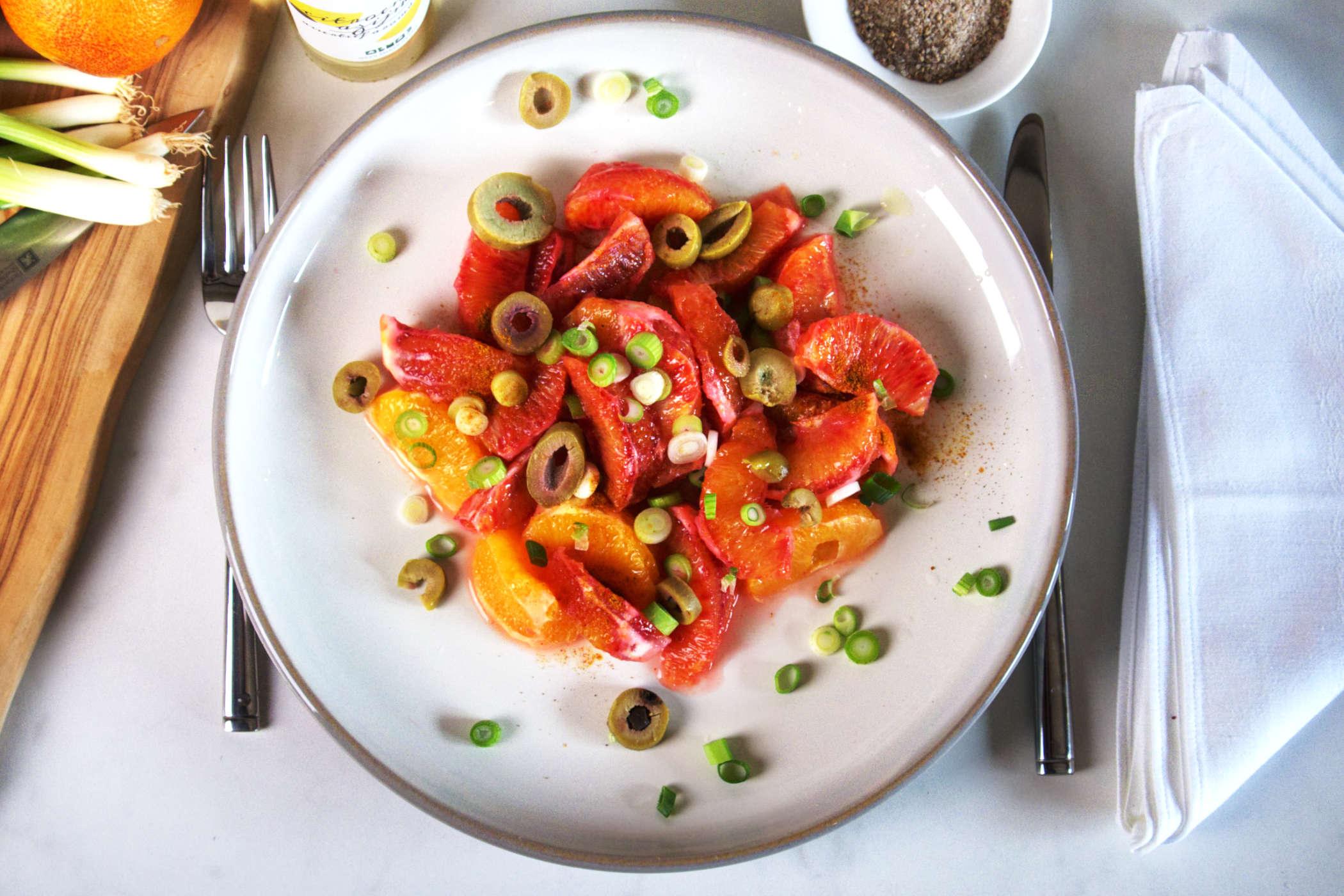 Bloedsinaasappelsalade