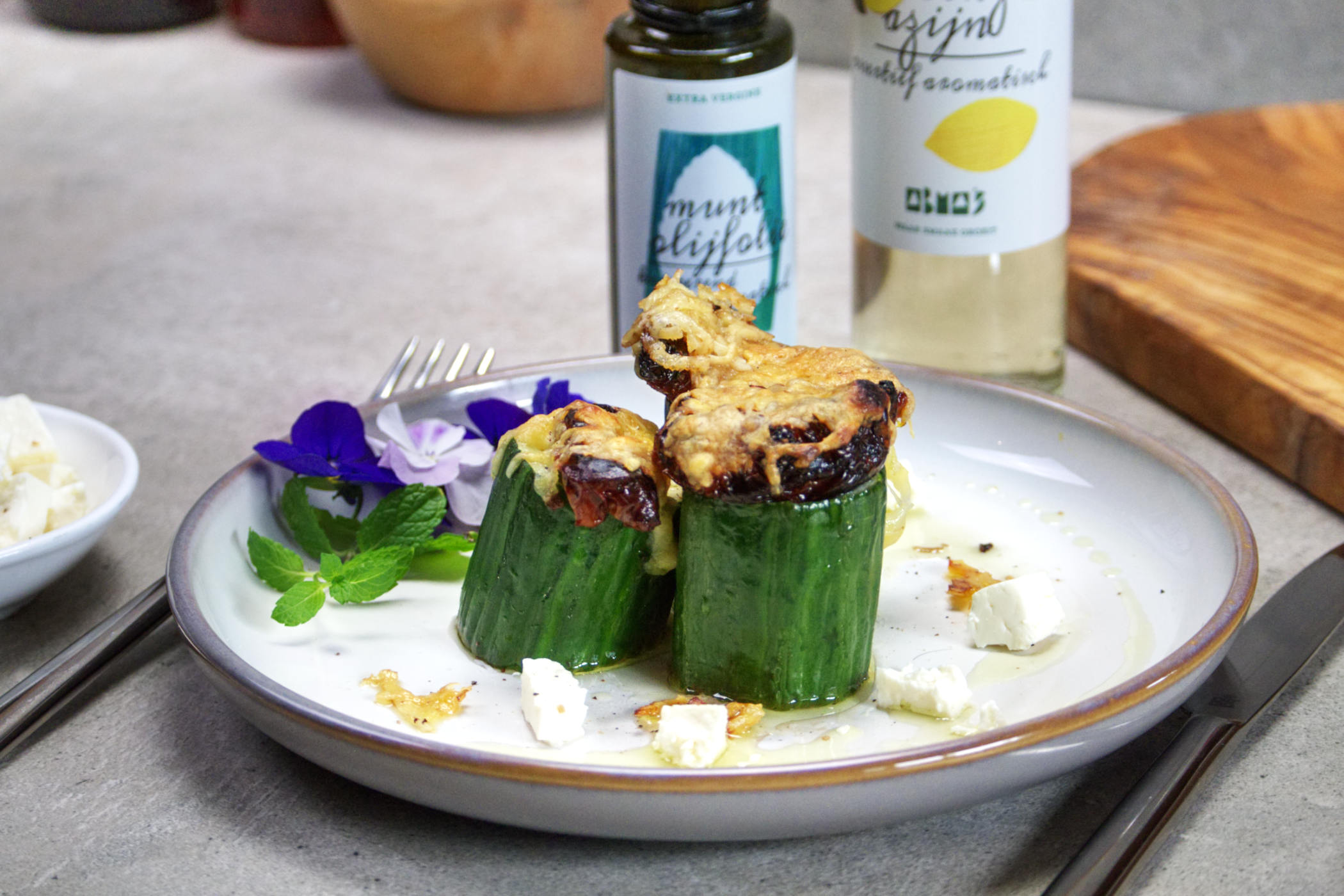 Gevulde komkommer